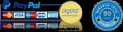 Pago seguro con Paypal y garantía de devolución de 30 días